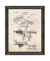 Game Apparatus Patent Print Old Look with Black Wood Frame - $24.95+