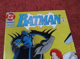 BATMAN # 476 (April 1992) * NM+ * Bruce almost reveals ID to Vickie Vale!! - $1.99