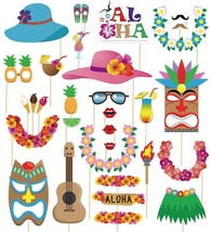 60pcs Luau Photo Booth Props Hawaiian Summer Pool Party Decorations Supp... - $90,57 MXN