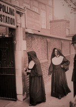 Nun's at Police Station 1950's Catholic 5 x 7 Christian print Religious Sisters - $4.65