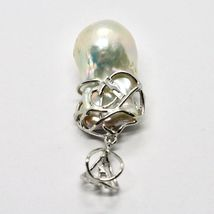 Silver Pendant 925 with Pearl White Fw Handmade Model Single image 8