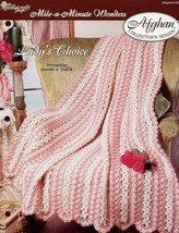 Lady's Choice Mile-A-Minute Afghan TNS Crochet Pattern Leaflet NEW - $2.67