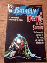 BATMAN A DEATH IN THE FAMILY GRAPHIC NOVEL 1ST EDITION - DC COMICS (1988) - $14.84