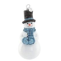Reed & Barton Glass Snowman Figurine Ornament Snowflurries Christmas Gif... - $55.97