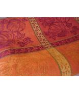 "tc-d60 Spiced Pumpkin Harvest Block Jacquard 60"" Round Tablecloth 100% C... - $70.66"