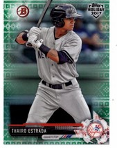 2017 Bowman Holiday Green Holiday Sweater #TH-TE Thairo Estrada NM-MT /99 Yankee - $17.99