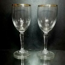 "2 (Two) VINTAGE MIKASA ""Serenity Gold"" Optic Lead Crystal White Wine Gla... - $18.04"