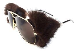 SAINT LAURENT Women's Sunglasses CLASSIC 11 SHIELDS Mink Fur MADE IN ITA... - $455.00