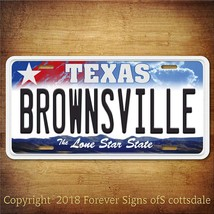 Brownsville Texas City/State/College Vanity Aluminum License Plate Tag - $12.82