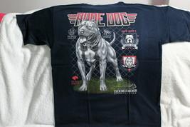 PITBULL RUDE DOG TEAM AMERICAN PIT BULL CLUB CHAIN FENCE DARK BLUE T-SHIRT - $11.65