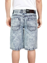 Brooklyn Xpress Men's Relaxed Fit Ripped Distressed Destroyed Jean Denim Shorts image 9