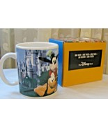 Disney Coffee Mug 12 oz Cup The Fab Five with Castle Theme New in Box - $22.76