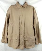 Polo Ralph Lauren Mens Jacket Size L Full Zip Tan Coat Corduroy Collar - $37.36
