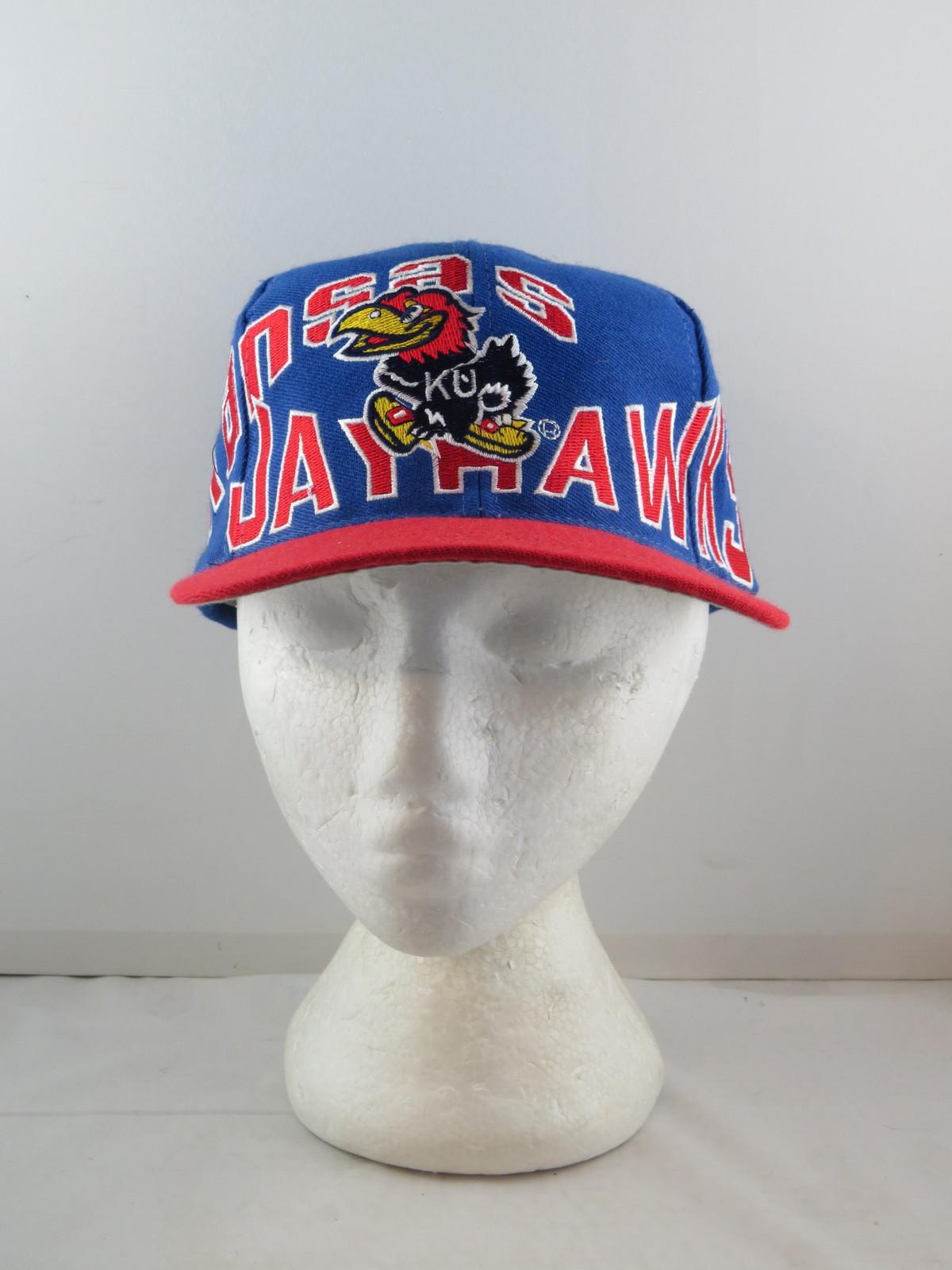 Kansas Jayhawks Hat (VTG) - Oversize Script by Apex One - Adult Snapback