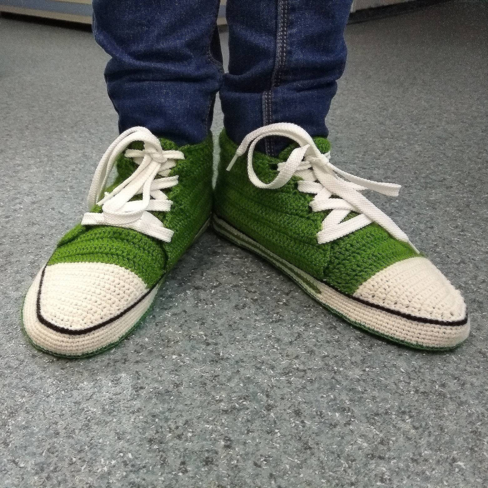 7af0ad8ab8b995 Crochet converse slippers Men home shoes Man and similar items. Il  fullxfull.1742524453 kgfe