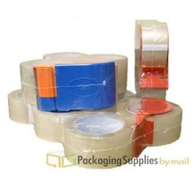Carton Sealing Packaging Tape Small Pack w/Dispenser - Clear, 4 Rolls, 2... - $12.35