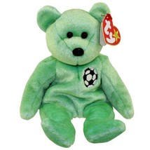 Kicks Soccer Bear Ty Beanie Baby Retired Mint Condition with Tags - $4.41