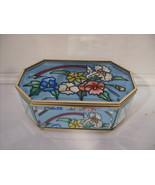 Floral Glass Art Beveled Box - $34.99