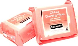 Neutrogena Cleansing Wipes Oil-Free Pink Grapefruit 2 pk - 50 sheets - $18.96