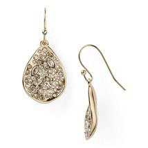 Alexis Bittar Miss Havisham Gold Small Crystal Encrusted Tear Drop Earri... - $113.36