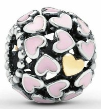 Authentic Pandora Abundance of Love Pink Charm 791283EN40 Pandora S925 ALE - $25.23