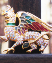 Vintage Trifari TM 1997 Limited Edition Gryphon Griffin Brooch Figural - $245.00