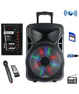 beFree Sound 15 Inch Bluetooth Rechargeable Party Speaker With Illuminat... - $131.42