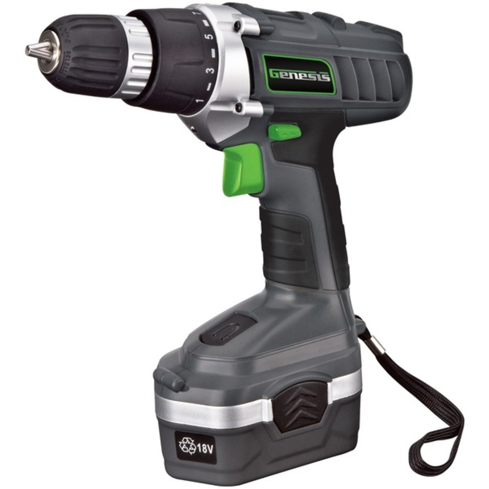 Primary image for Genesis GCD18BK 18-Volt Cordless Li-Ion Variable Speed and Reversing Drill/Drive