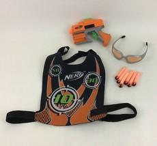 Pistol Vest Goggles Orange Team Dart Tag Nerf Dart Gun Blaster Hasbro with Darts - $18.66