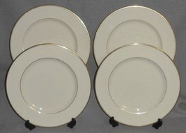 Set (4) Lenox MANSFIELD PATTERN Dinner Plates MADE IN USA - $47.51