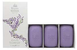 Woods of Windsor Lavender Fine English Soap (Box of 3) 3.5ozea Bars - $31.37
