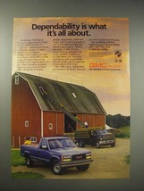 1990 GMC Sierra Pickup Truck Ad - Dependability is what it's all about - $14.99