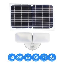 10-Watt White Solar Powered Dual Head Motion Activated Outdoor Integrate... - $96.28