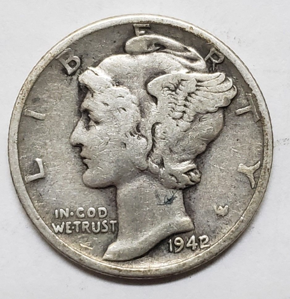 1942/1 Key Date Mercury Silver Dime 10¢ Coin Lot E 86