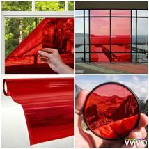 Transparent Colorful Vinyl Window Tinting Adhesive Sheets Grime Resistan... - $25.00