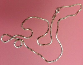 Box Chain -- Sterling Silver -- 1.5mm* -- 16 inch* -- Made in Italy - $16.77