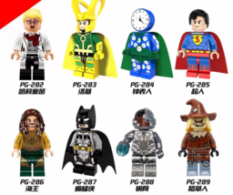 8pcs Fit Lego Watchman Harley Quinn Loki Superman Super Heroes Building ... - $19.99
