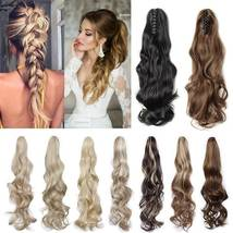 Real Thick Claw Ponytail Hair Piece Clip in Hair Extensions As Human Hair image 5