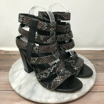 Circus Sam Edelman Neva Black Snakeskin Gladiator Sandals Womens Size 7.5 - $39.95