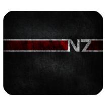 Mouse Pad N7 Logo Mass Effect Beautiful Elegant Computer Design Video Game - $6.00