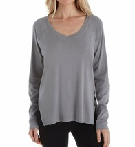 PJ Harlow DARK SILVER Frankie Knit Lounge Top, US Medium - $54.36