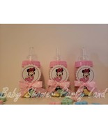 Minnie Mouse | Baby Shower Decoration | A set of 12 Pink Bottles Favors ... - $17.99