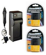 2X LP-E6NH, Batteries + Charger for Canon SLR EOS R5, EOS R6, EOS Ra, EOS R, - $59.39