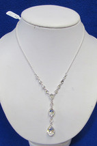 Charter Club Necklace Faceted Glass Beads Rhinestones Statement Pendant ... - $11.87