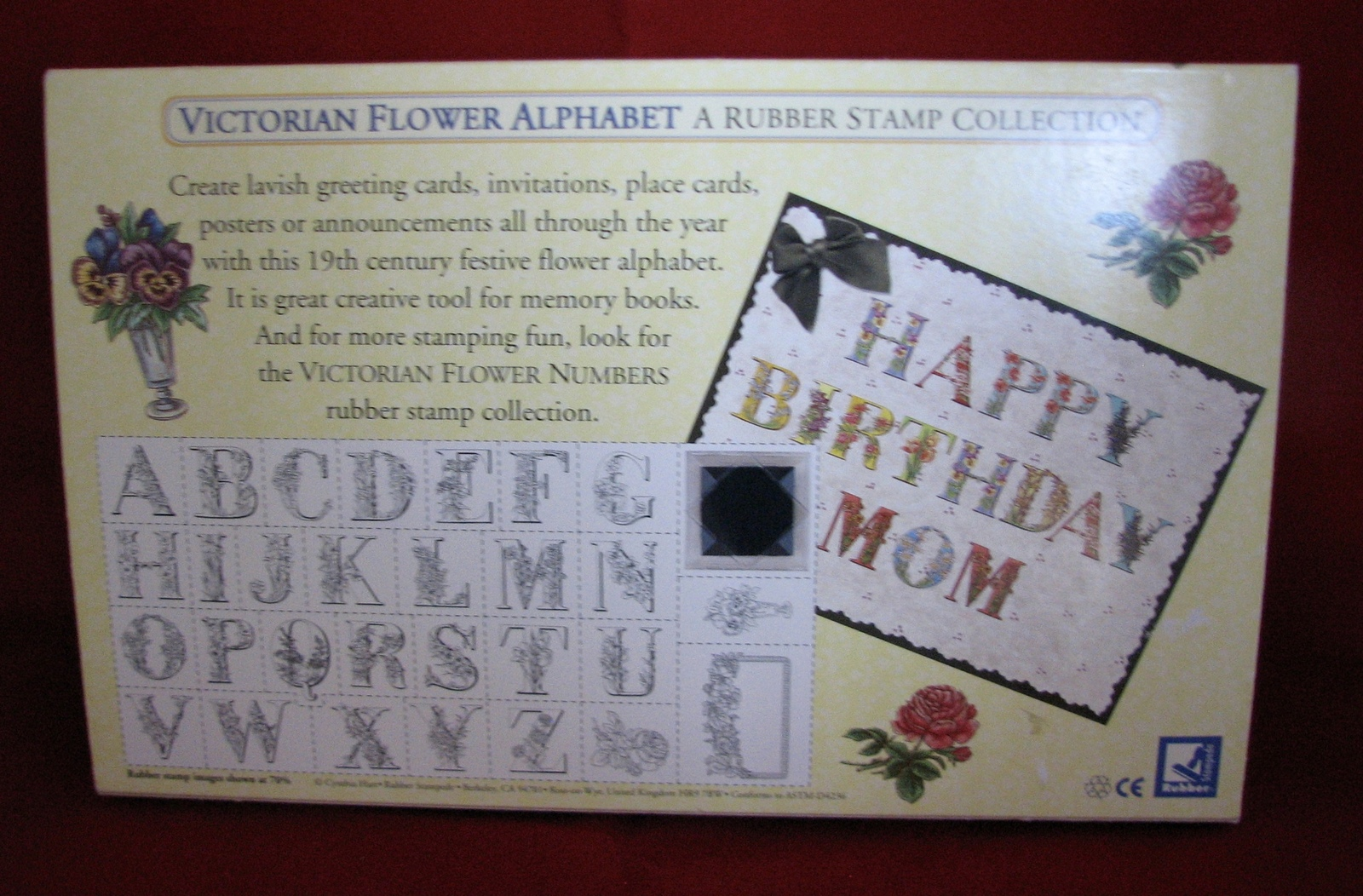 Cynthia Hart Stamp Kit Victorian Alphabet Flowers Supplies ABCs