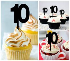 10th Anniversary Wedding,Birthday Cupcake topper, we still do Package : 10 pcs - $10.00