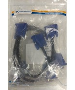 Cable Matters 2 Pack VGA Monitor Y-Splitter Cable for Screen Duplication... - $14.69