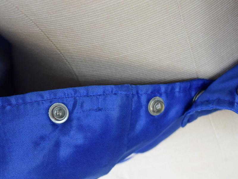 Vintage 80s Blue Satin Jacket TBS Super Station Windbreaker Retro Mens Size S image 6