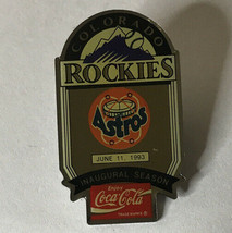 1993 Colorado Rockies logo  ''Inaugural Season vs Astros''  MLB Baseball Pin - $7.80