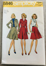 Vintage Simplicity Sewing Pattern 5846 Misses Jacket and Dress Uncut Siz... - $8.99